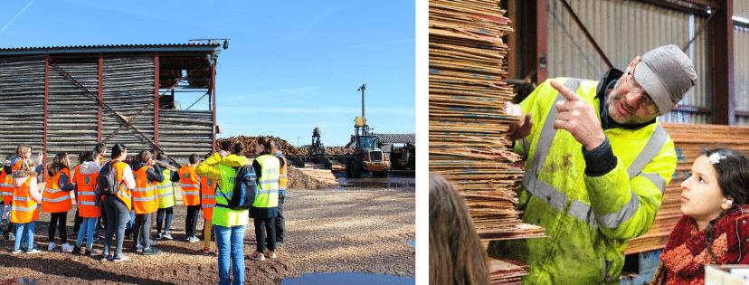 Journée transformation du bois avec les entreprises Thebault et Archimbaud