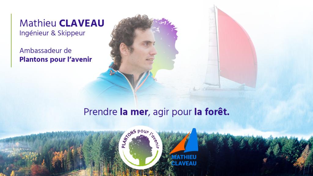 """Mathieu Claveau, skippeur du """"Prendre la mer, agir pour la forêt"""""""